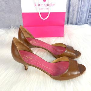 Kate Spade Peep Toe Leather Heels
